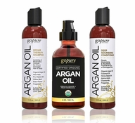 Complete Argan Oil Hair Care Set by goPure