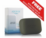 Dead Sea Mud Soap by Adovia - 100% Natural