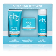 eb5 Gift Set includes 1 each -  1.7oz Facial Cream, 6oz, Cleanser and 6oz Toner