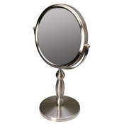 Floxite 15x/1x Supervision Vanity Mirror - Brushed Nickel