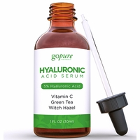 goPure Hyaluronic Acid Serum with 5% Professional Level Hyaluronic Acid, Vitamin C, Green Tea & Vitamin E