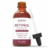 goPure Retinol Facial Serum - Active Retinol with Organic Aloe, Green Tea and Hyaluronic Acid