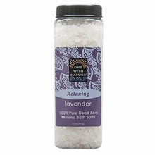 One With Nature Relaxing Lavender Bath Salts - 32oz
