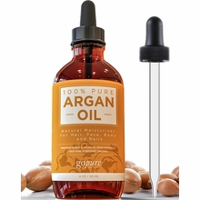 Organic Argan Oil for Skin & Hair - 100% Pure and USDA Certified Organic - from Morocco by goPure Naturals