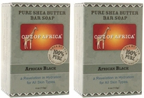 Out of Africa Shea Butter Bar Soap - African Black (Pack of 2)