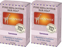 Out of Africa Shea Butter Bar Soap - Lavender (Pack of 2)