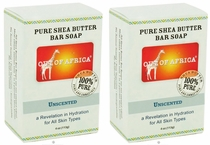 Out of Africa Shea Butter Bar Soap - Unscented (Pack of 2)