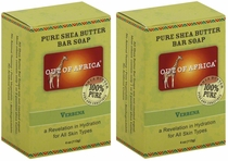 Out of Africa Shea Butter Bar Soap - Verbena (Pack of 2)