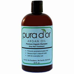 Pura D'or Grey Hair Prevention Shampoo 16 oz