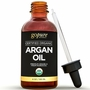 goPure Virgin Argan Oil 4oz - USDA Organic for Skin & Hair