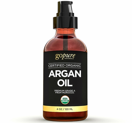 Virgin Organic Argan Oil for Hair & Skin - 4 fl. oz. - Cold-Pressed 100% Pure Moroccan Oil - USDA Certified Organic - Pure Argan Oil for Skin, Hair, & Nails