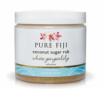 Pure Fiji Sugar Rub - White Gingerlily 16oz