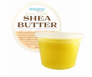 Unrefined Gold Shea Butter 100% Organic 1 Pound Raw - Grade A Highest Quality