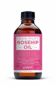Rosehip Oil - 100% Pure and EcoCert Certified Organic - Cold Pressed Rosehip Seed Oil by goPURE Naturals