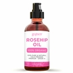 Rosehip Oil - 100% Pure - Cold Pressed Organic Rosehip Seed Oil with Pump by goPURE Naturals