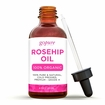 Rosehip Oil - 4 oz - 100% Pure - Cold Pressed Rosehip Seed Oil by goPURE Naturals