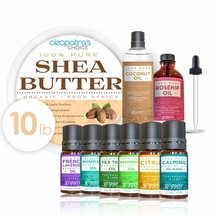 Shea Butter DIY Starter Kit with 2 Top Carrier Oils and 6 Top Essential OIls