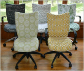 fice Chairs Upholstered Desk Chairs Custom fice