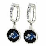 Akron Zips Enamel Large CZ Hoop Earrings