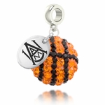 Alabama A&M University Crystal Basketball Dangle Bead