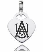 Alabama A&M University Silver Heart Dangle Bead