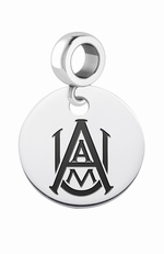Alabama A&M University Silver Round Dangle Bead