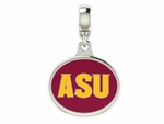 Arizona State Sun Devils Silver Enamel Dangle Charm Bead