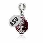 Arizona State University Sun Devils Color Football Bead