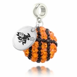 Arizona State University Sun Devils Crystal Basketball Dangle Bead