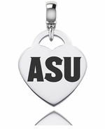 Arizona State University Sun Devils Silver Heart Dangle Bead