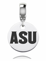 Arizona State University Sun Devils Silver Round Dangle Bead