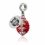 Arkansas State University Red Wolves Color Football Bead