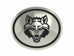 Arkansas State University Red Wolves Silver Round Laser Bead