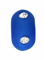 Beadles 10mm Cobalt Blue Frosted Acrylic Swarovski Crystal Bead