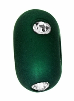 Beadles 10mm Green Frosted Acrylic Swarovski Crystal Bead