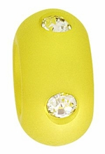 Beadles 10mm Lime Frosted Acrylic Swarovski Crystal Bead
