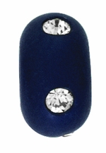 Beadles 10mm Navy Blue Frosted Acrylic Swarovski Crystal Bead
