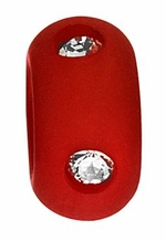 Beadles 10mm True Red Frosted Acrylic Swarovski Crystal Bead