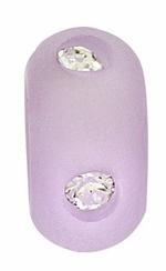 Beadles 10mm Violet Frosted Acrylic Swarovski Crystal Bead