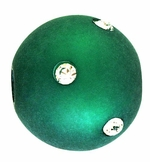 Beadles Round 14mm Green Frosted Acrylic Swarovski Crystal Bead
