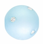 Beadles Round 14mm Light Blue Frosted Acrylic Swarovski Crystal Bead