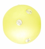 Beadles Round 14mm Lime Frosted Acrylic Swarovski Crystal Bead