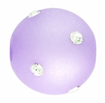 Beadles Round 14mm Periwinkle Frosted Acrylic Swarovski Crystal Bead