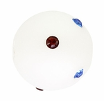 Beadles Round 14mm Red White Blue Frosted Swarovski Crystal Bead