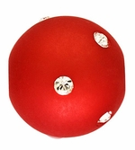 Beadles Round 14mm True Red Frosted Acrylic Swarovski Crystal Bead