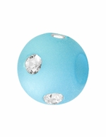Beadles Round 8mm Blue Frosted Acrylic Swarovski Crystal Bead