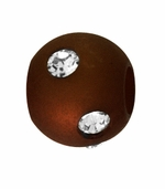 Beadles Round 8mm Brown Frosted Acrylic Swarovski Crystal Bead