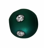 Beadles Round 8mm Green Frosted Acrylic Swarovski Crystal Bead
