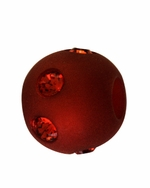 Beadles Round 8mm Indian Red Frosted Acrylic Swarovski Crystal Bead