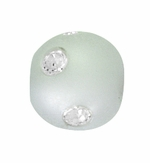 Beadles Round 8mm Lavender Frosted Acrylic Swarovski Crystal Bead